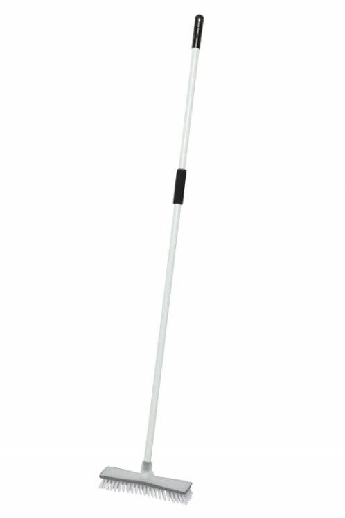 Edco deck scrub broom with handle