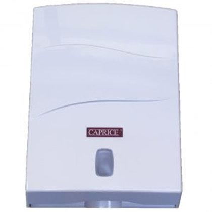 Caprice Interleaved Towel Dispenser White Plastic