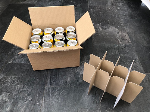 12 x 440ML CAN SHIPPING BOX ECO PLUS -DOUBLE WALL - ECO PLUS