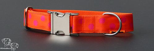 Orange/Pink dots on orange