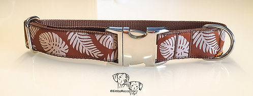 Jungle Leaves 30mm on brown