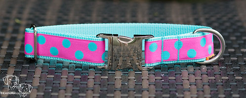 Pink/Turquoise dots on turquoise