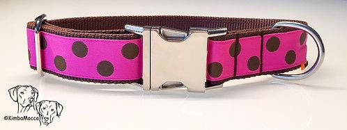 Pink/Brown dots on brown