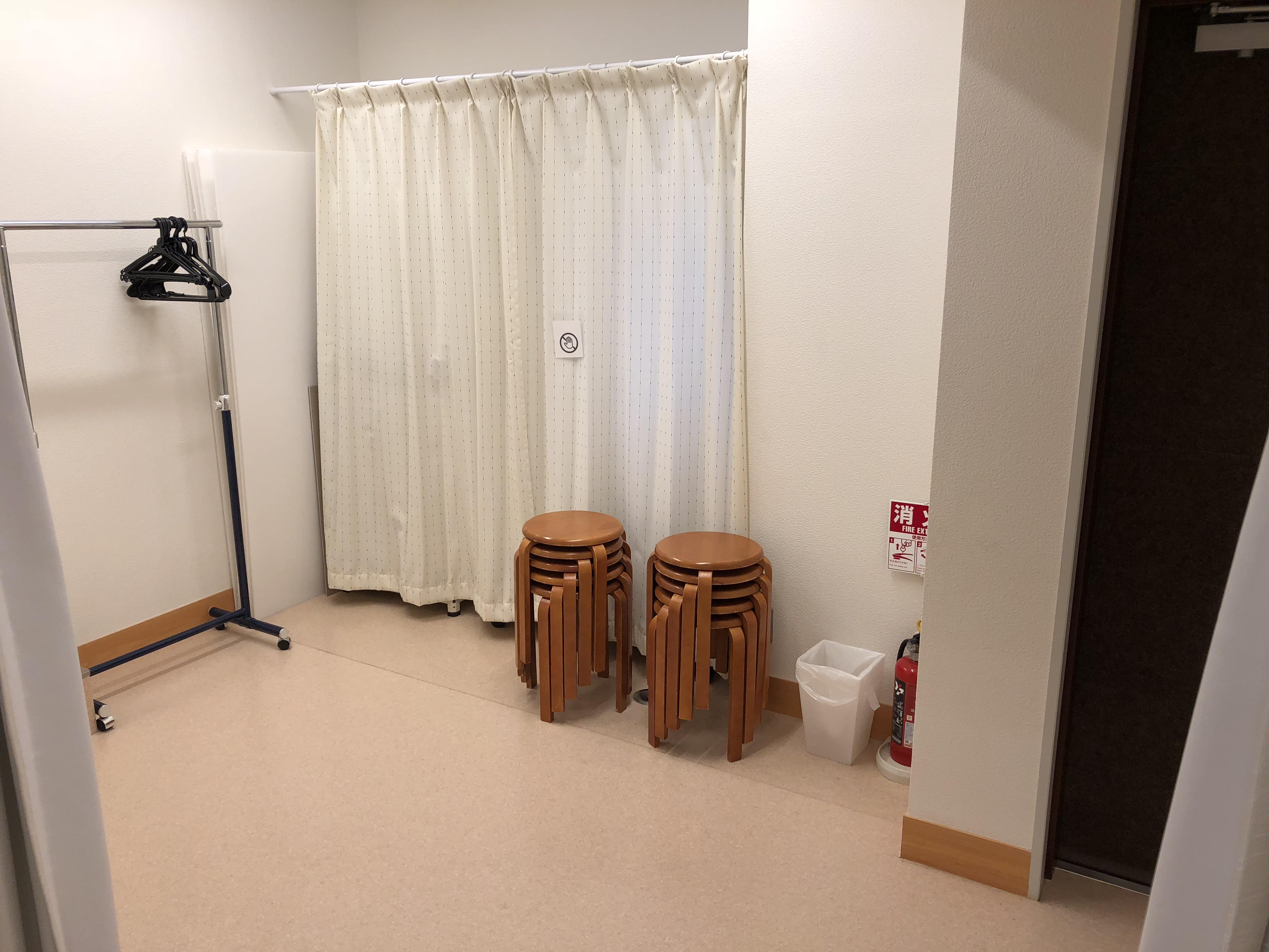 2m×3mの着替え、あるいは、荷物置き場のスペース