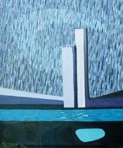 Bassin de la Villette,1986 ( 65x54 )