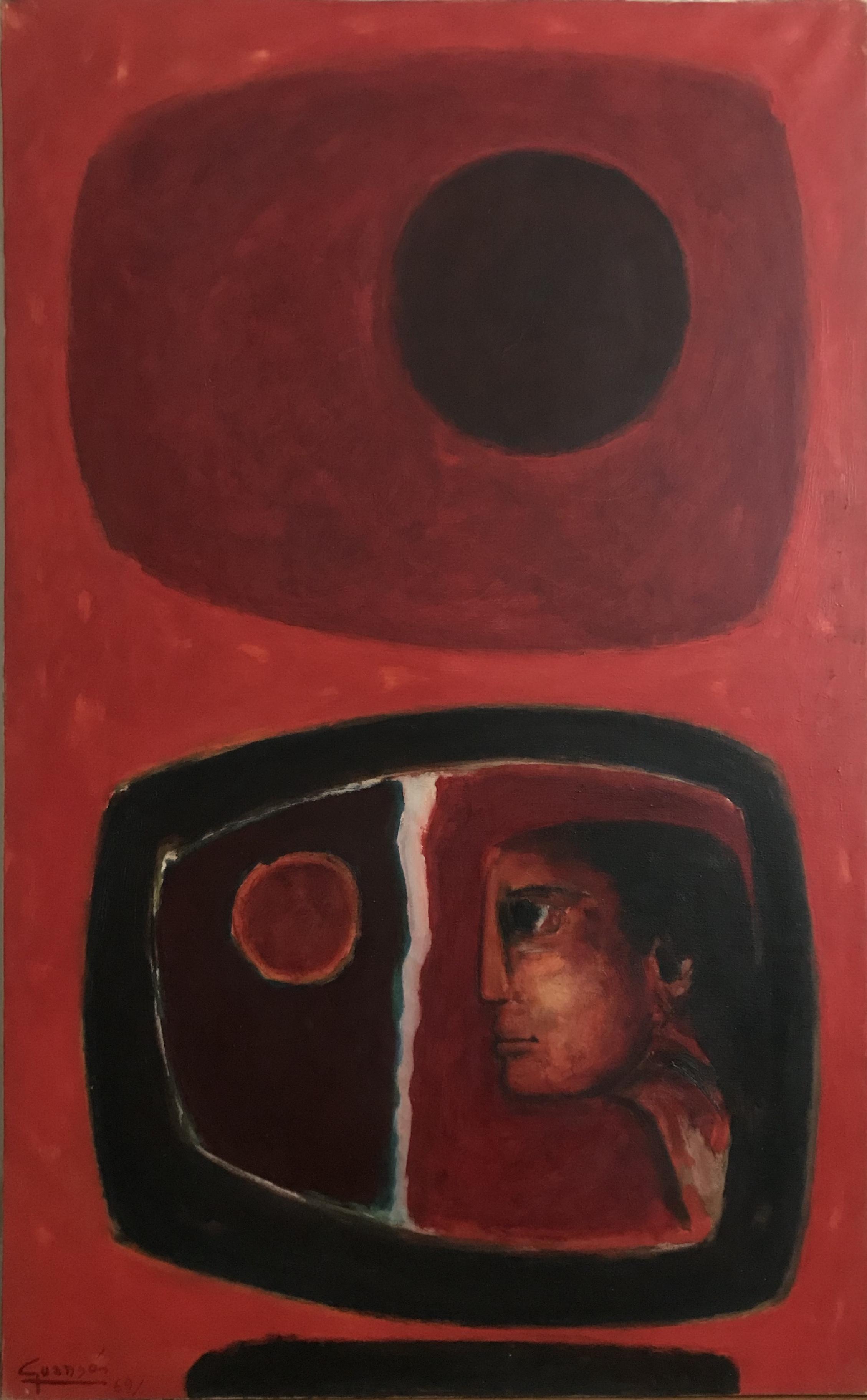 Télevision et Ciel Rouge,1969