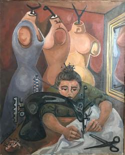 La Couturière, 1955 (81x100)