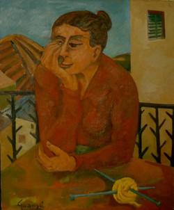 Femme au Balcon, 1955