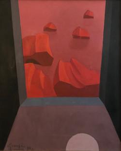 De ma Fenêtre,1990 ( 73x60 )