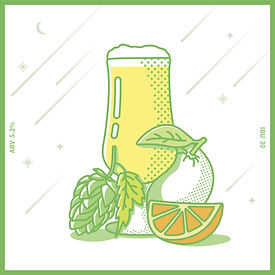 오렌지 쥬스를 연상시키는 디날리홉의  아로마에 쌉쌀한 맛의 밸런스가 매력적인  American Pale Ale