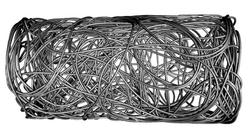 Volume render of fibrous material