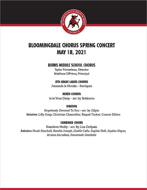 Bloomingdale Chorus Spring Concert - Pag