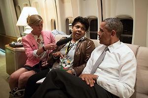 April Ryan and President Obama