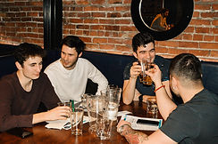 Friends enjoy tap beers at The Beaver Taphouse