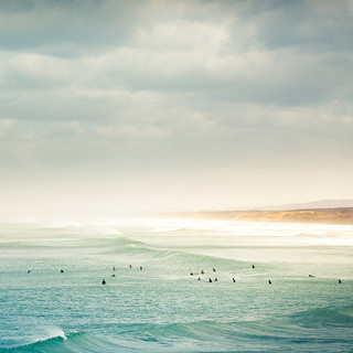 ocean surf retreats