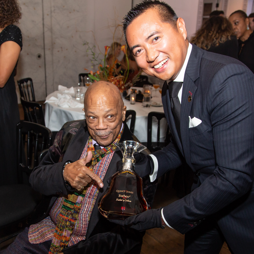 Quincy Jones and Hennessy