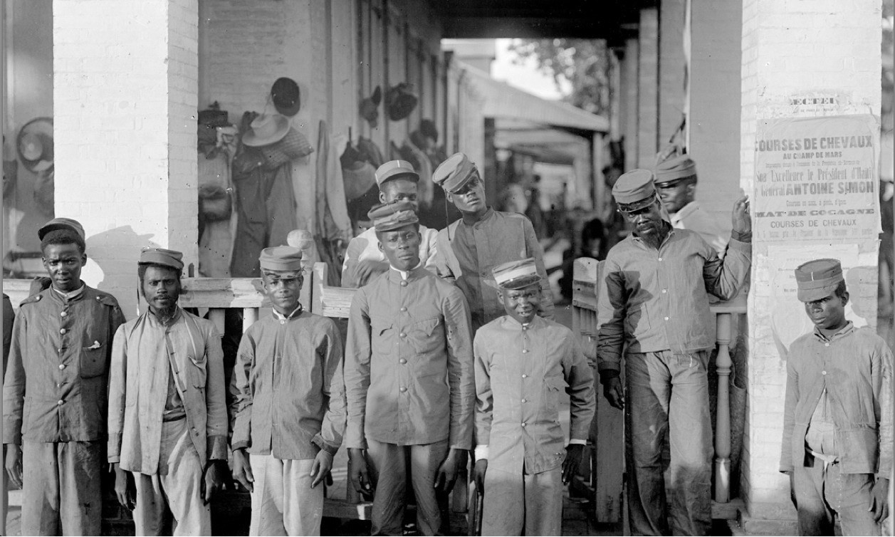 Grooms in Port-au-Prince, early 1900