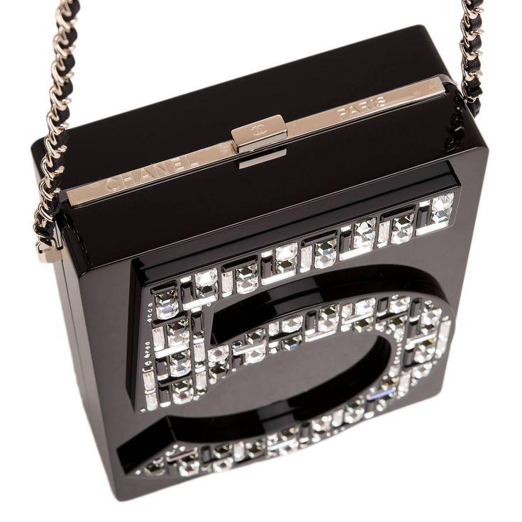 Chanel Black No. 5 Plexiglass Minaud