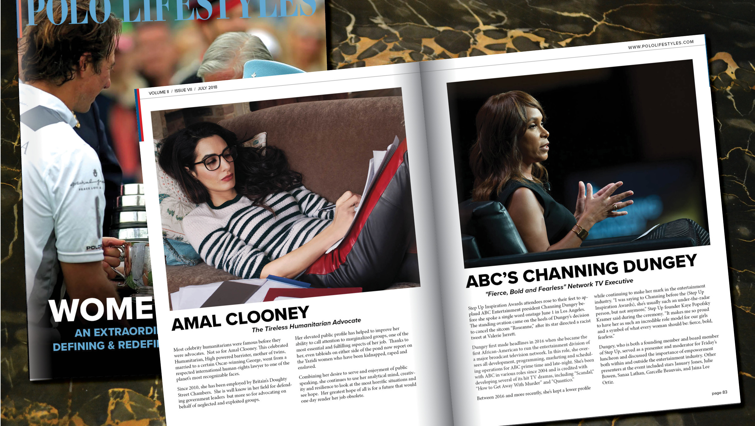 AMAL CLOONEY & CHANNING DUNGEY