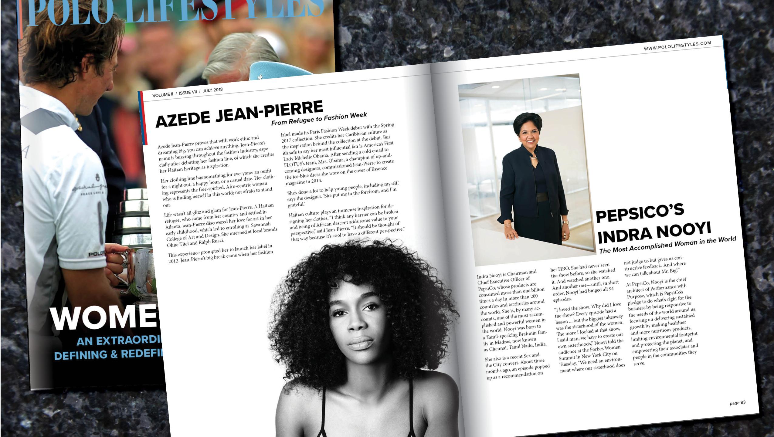 AZEDE JEAN PIERRE & INDRA NOOYI
