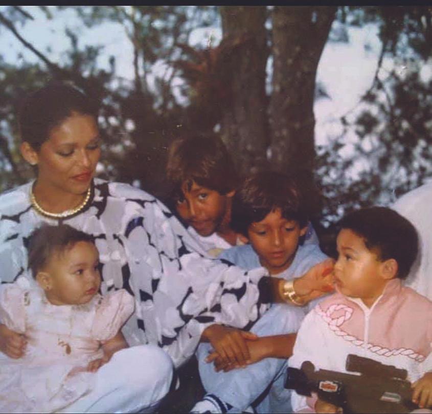 Michele Bennett Duvalier and children