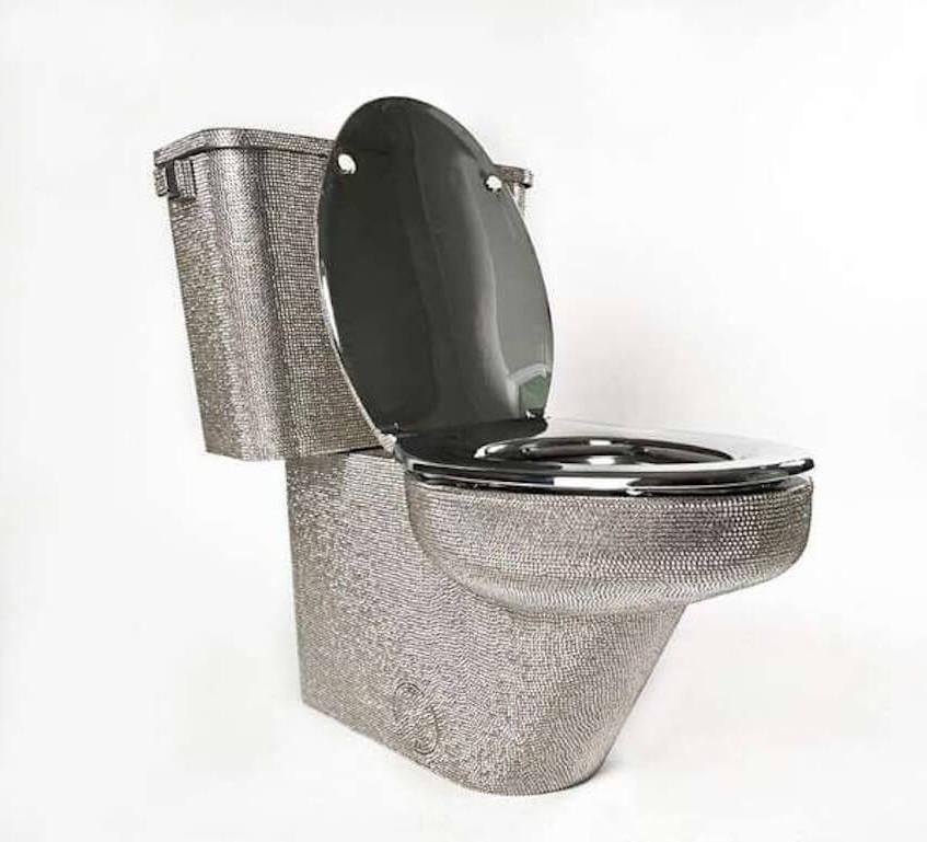Swarovski studded toilet