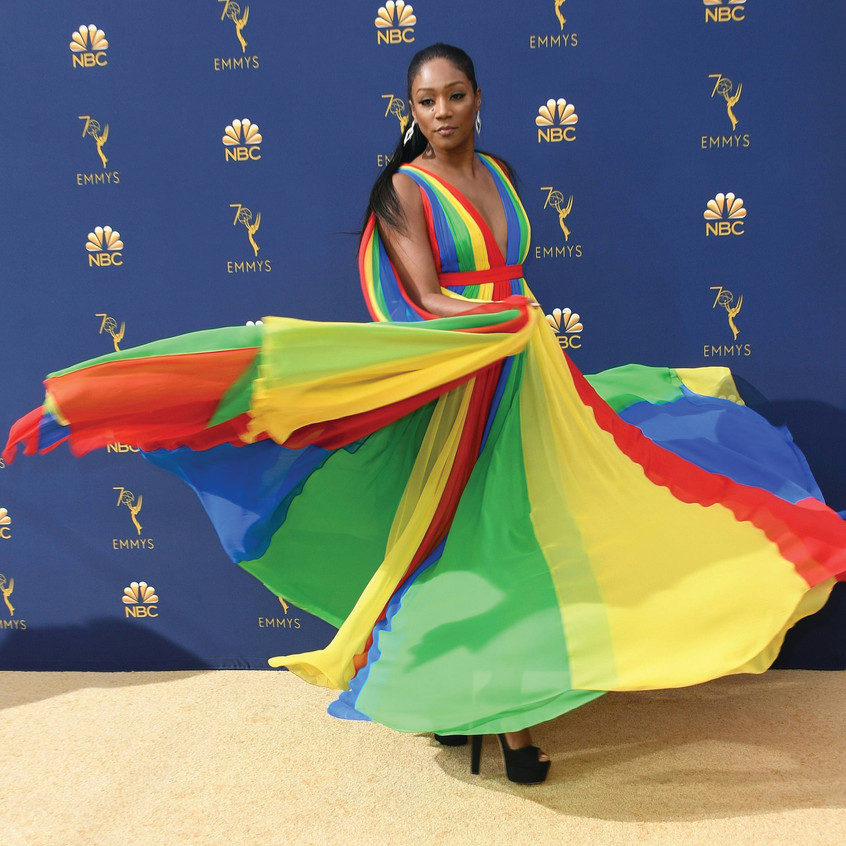 Tiffany-Haddish-Rainbow-Dress-Prabal-Gur