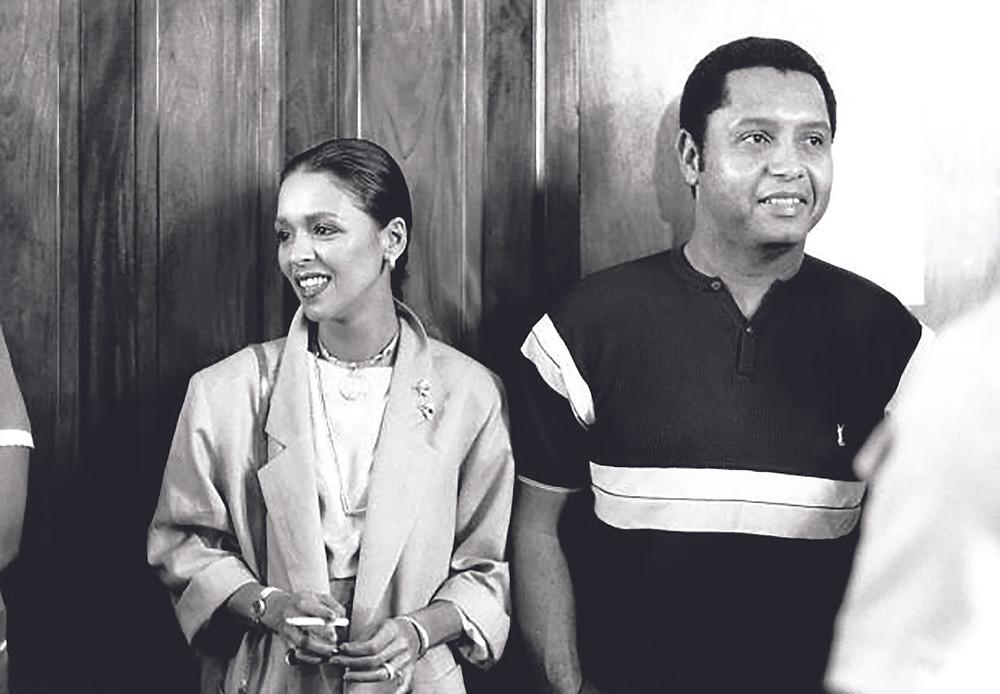 Michele Bennett with Jean-Claude Duvalier