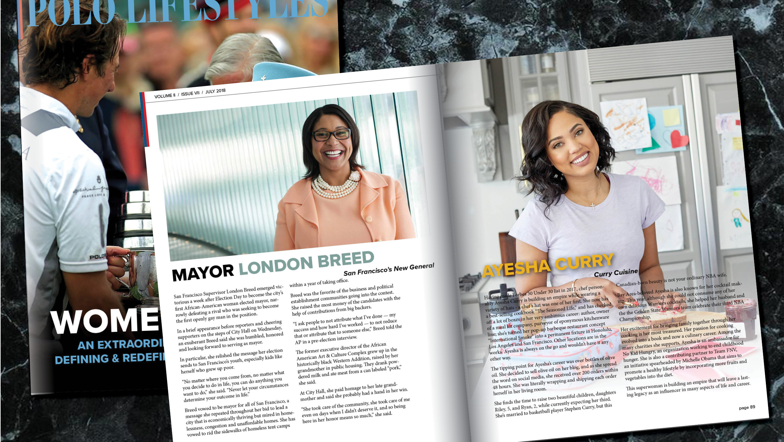 LONDON BREED & AYESHA CURRY
