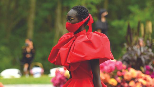 Christian Siriano's Masked Models Walked In His Backyard