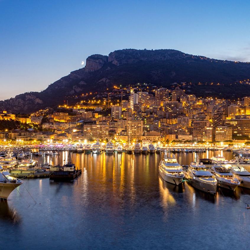 monaco-port-night