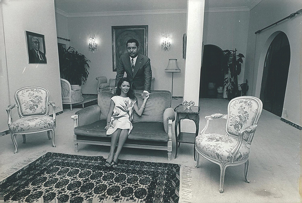 Michele Bennet and Jean-Claude Duvalier