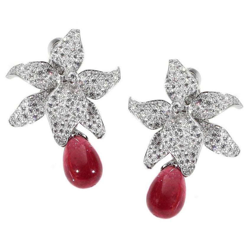 Cartier Caresse Rubelite earrings