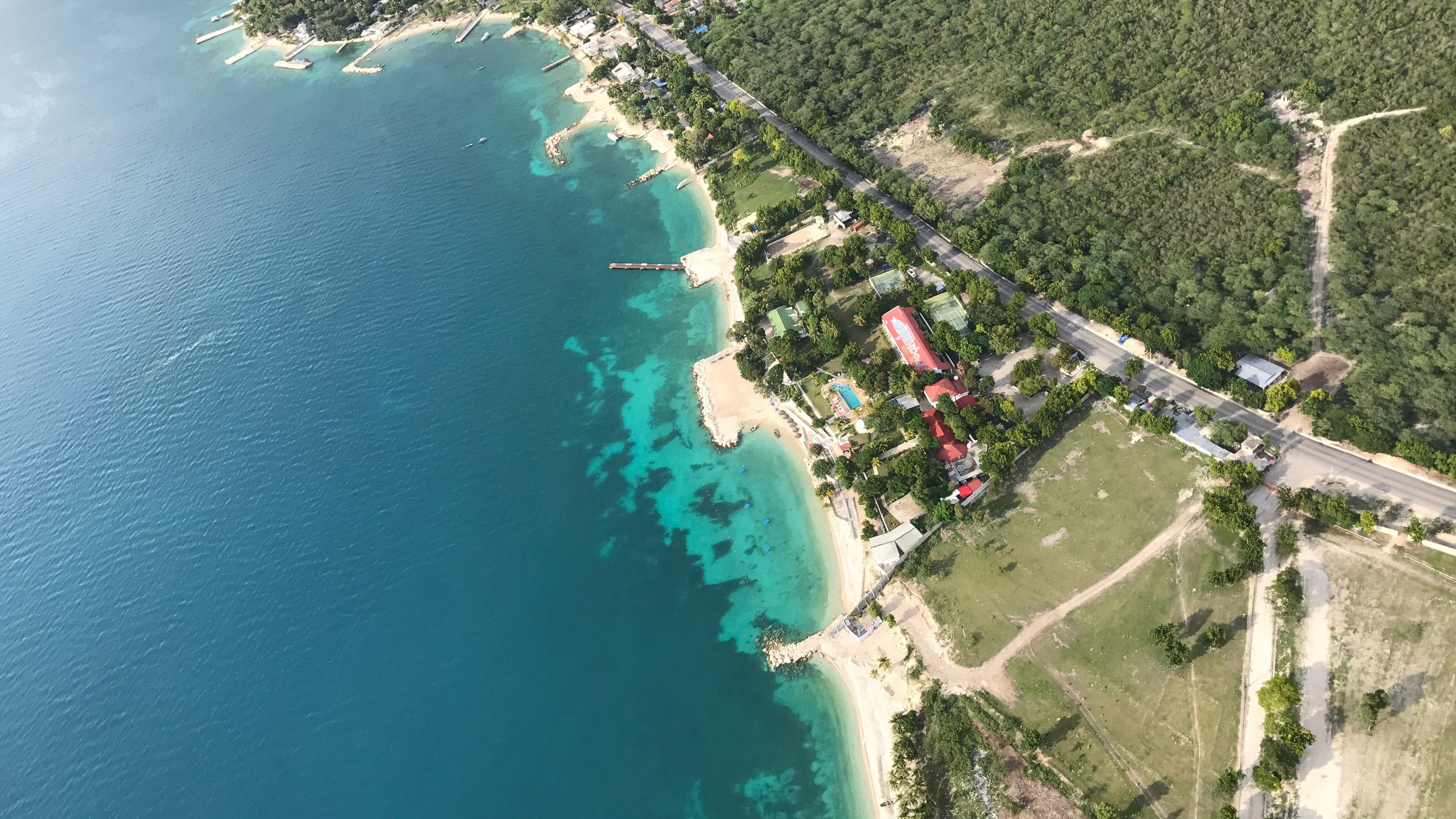 Paragliding over Haiti