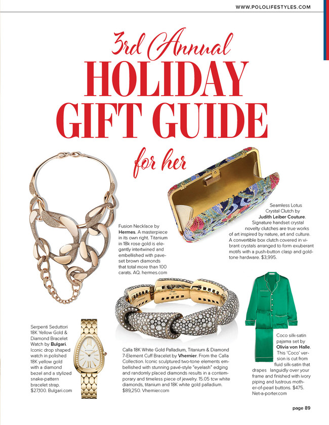2019 Holiday Gift Guide by Polo Lifestyles