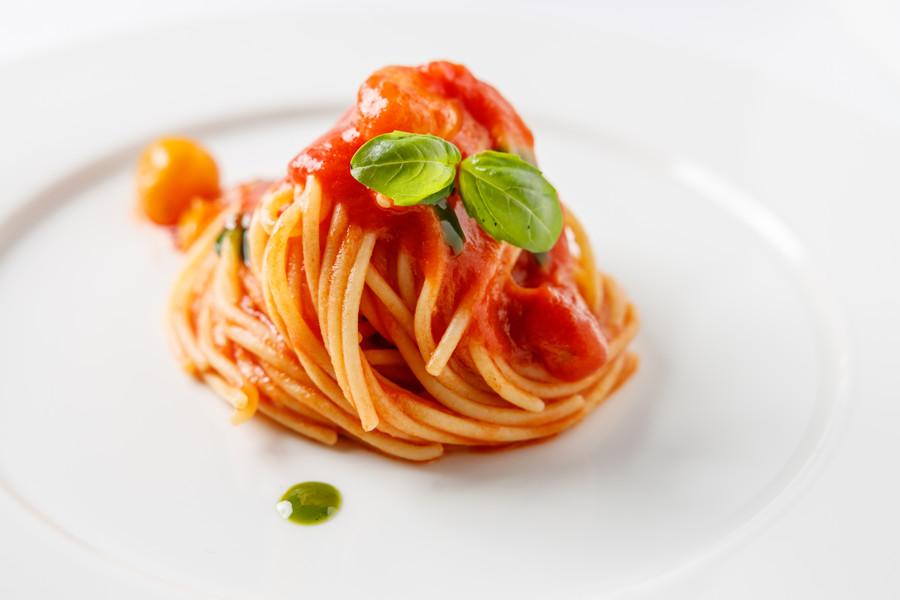 """Spaghetto """"Mancini"""" ai tre pomodori"""