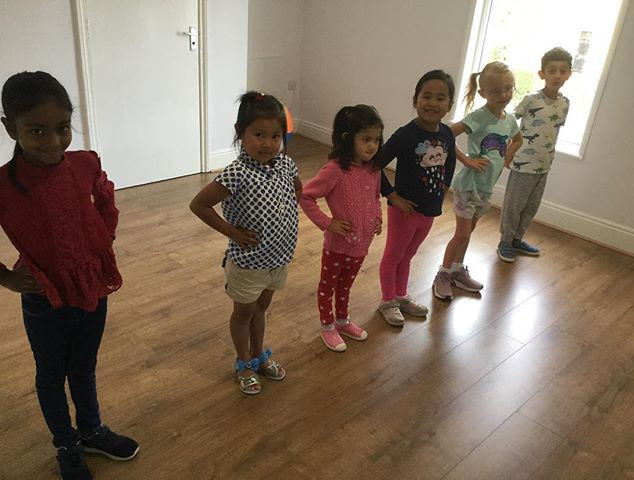 Our younger students at summer camp lear