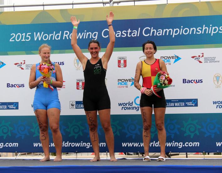 Championne du Monde d'Aviron de Mer 2015 à Lima