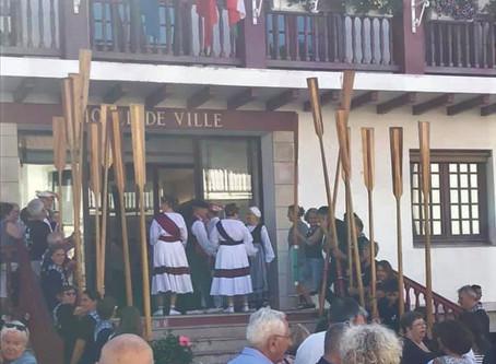 Accueil des rameurs de Viana Do Castelo