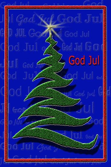 Juletre - julekort
