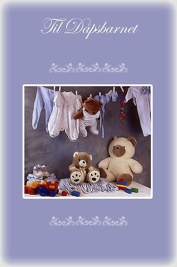 Dåpskort til gutt - Bamse