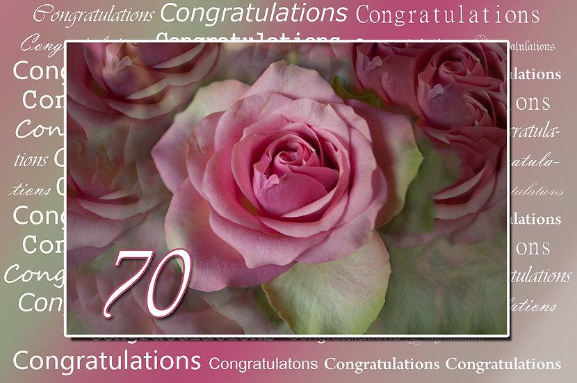 70-årsdag roser