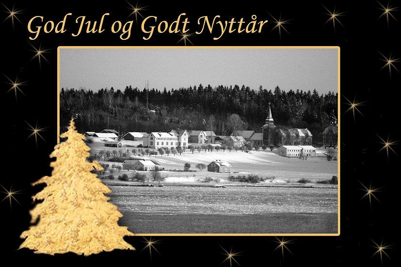 Jul over Bastøya - julekort