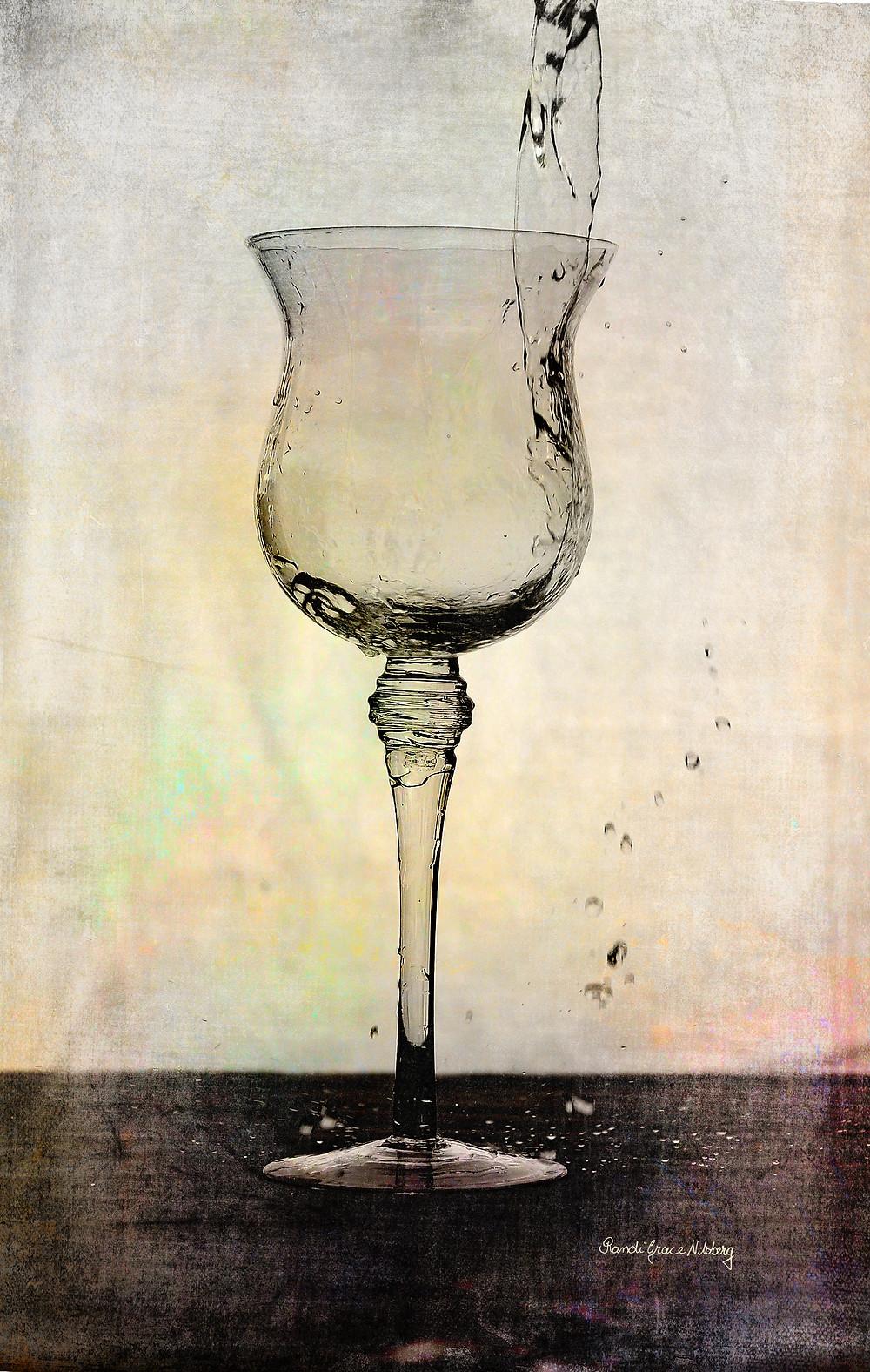 """""""Aqua"""" Dette bildet har fått en omgang med digitale teksturer."""