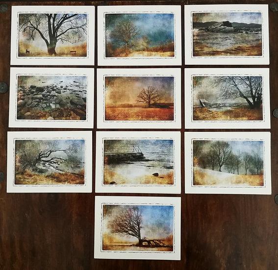 Fotokunstkort med motiver fra Horten