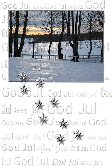 Desemberaften - julekort