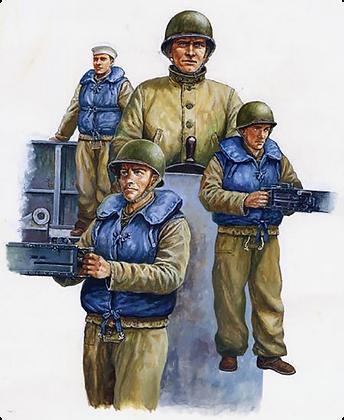 WW2 USN LCM Crew 1.35