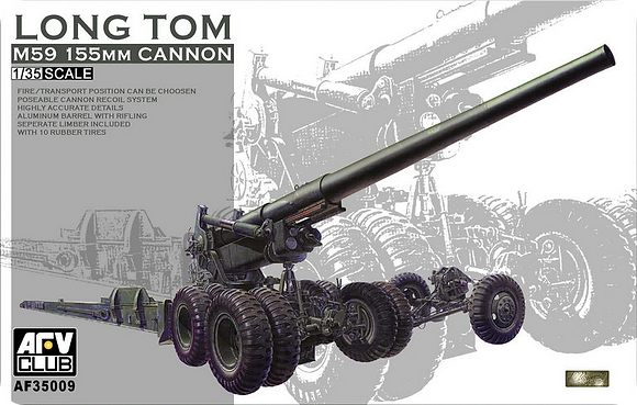 M59 Long Tom 155 mm Cannon 1/35