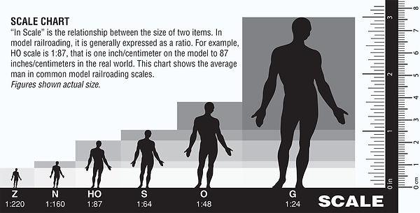 Woodlan Scenics Scale Chart