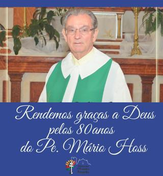 Homenagem da Paróquia Santa Cecília, de Alecrim, por ocasião dos 80 anos do Pe. Mário Hoss